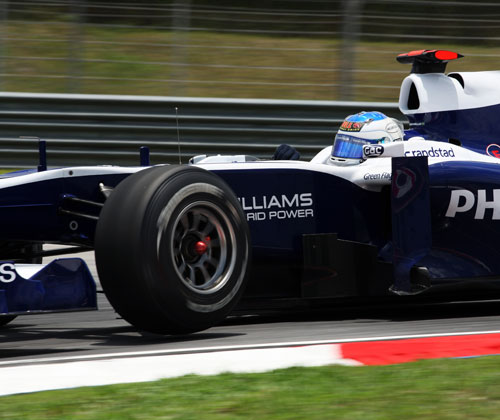 Rubens Barrichello in the Williams