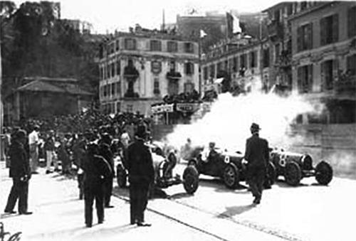 The start line at the inaugural Monaco Grand Prix