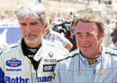 Damon Hill and Nigel Mansell at the champions parade, Bahrain Grand Prix, Sakhir, March 14, 2010