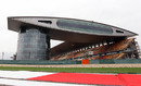 The main grandstand at the Shanghai International Circuit