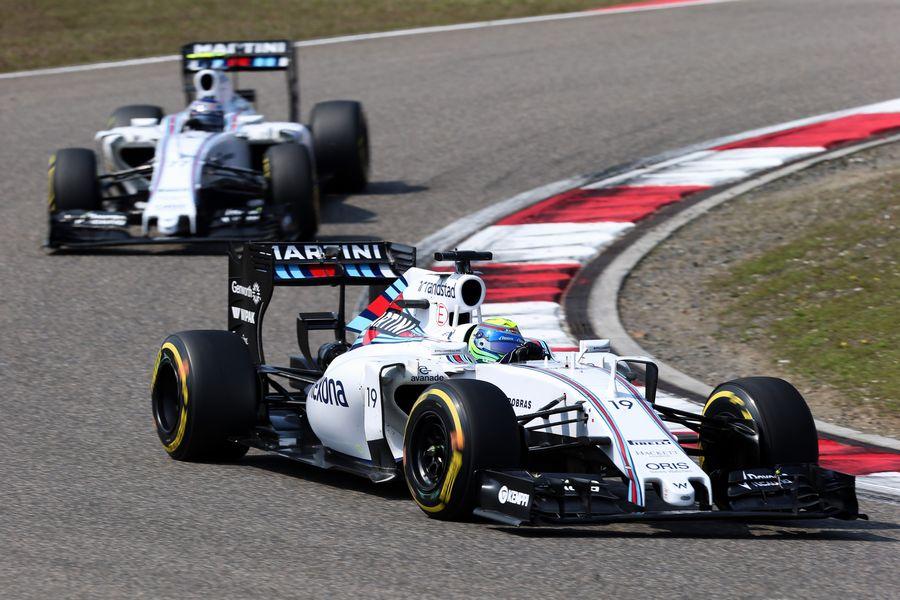 Felipe Massa leads teammate Valtteri Bottas