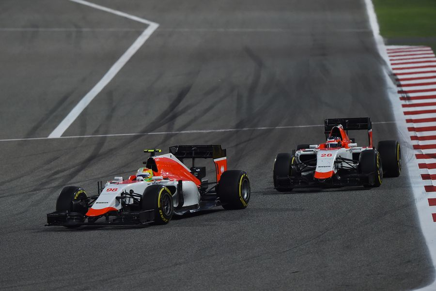 Roberto Merhi leads Will Stevens