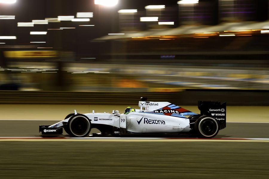 Felipe Massa on track in the Williams