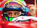 Felipe Massa signals to start his engine