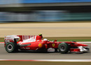 Fernando Alonso on the pace in the Ferrari
