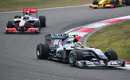 Nico Rosberg leads Jenson Button