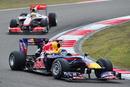 Sebastian Vettel heads Lewis Hamilton