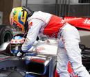 Lewis Hamilton congratulates Jenson Button