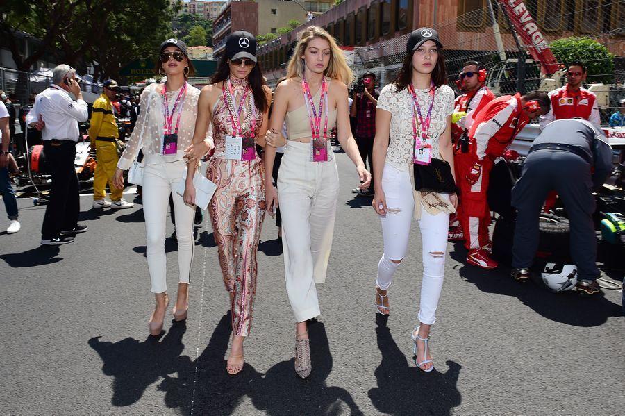 Kendall Jenner, Gigi Hadid, Bella Hadid and Hailey Baldwin on the grid