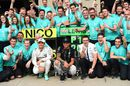 Mercedes celebrates its 1-2 finish in Canada