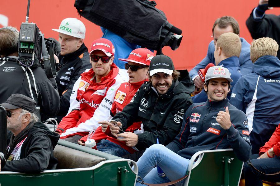 Driver parade at the Red Bull Ring