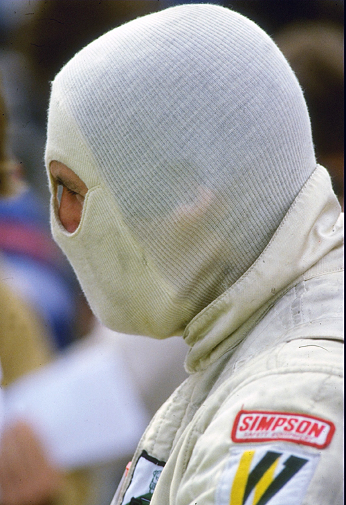 Alan Jones at Silverstone before his victory
