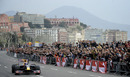 Mark Webber drives his Formula 1 car on the Naples seafront during the Red Bull F1 Show Run
