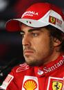 Fernando Alonso in a press conference