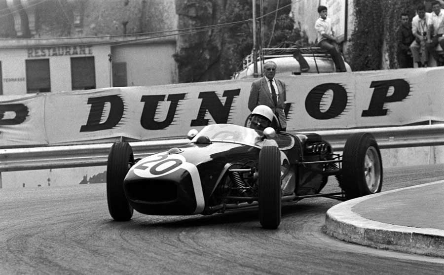 Stirling Moss attacks the Monaco circuit