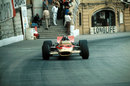 Graham Hill on his way to his fifth Monaco win