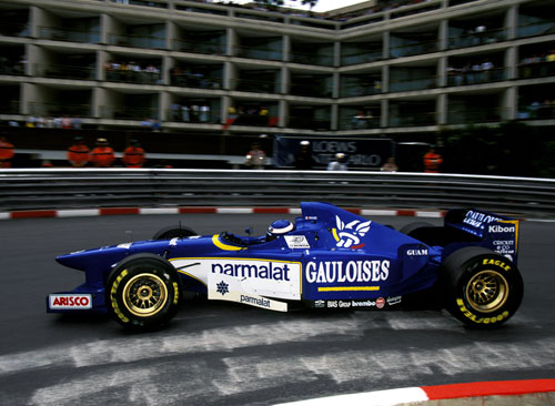 Olivier Panis on his way to winning the Monaco Grand Prix