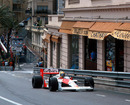 Ayrton Senna drives up the hill from Saint Devote