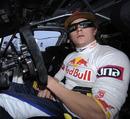 Kimi Raikkonen in his Citroen C4 rally car