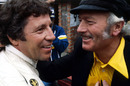 Mario Andretti and Colin Chapman celebrate winning the race