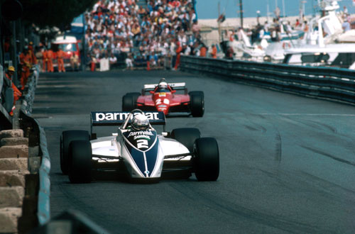 Riccardo Patrese ahead of the dramatic climax to the race