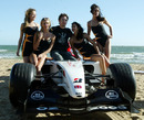 The Brunotti girls meet Jenson Button on the beach