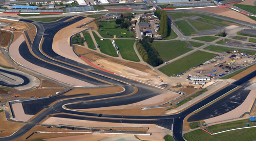 The new Silverstone track from above