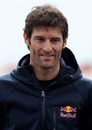 Mark Webber at the launch of the new circuit at Silverstone
