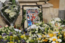 Flowers at funeral of Jules Bianchi