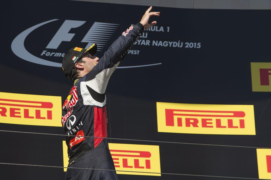 Daniel Ricciardo on the podium