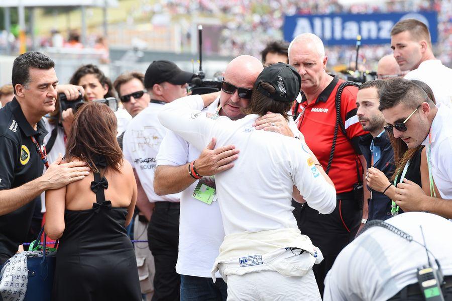 Fernando Alonso with Philippe Bianchi