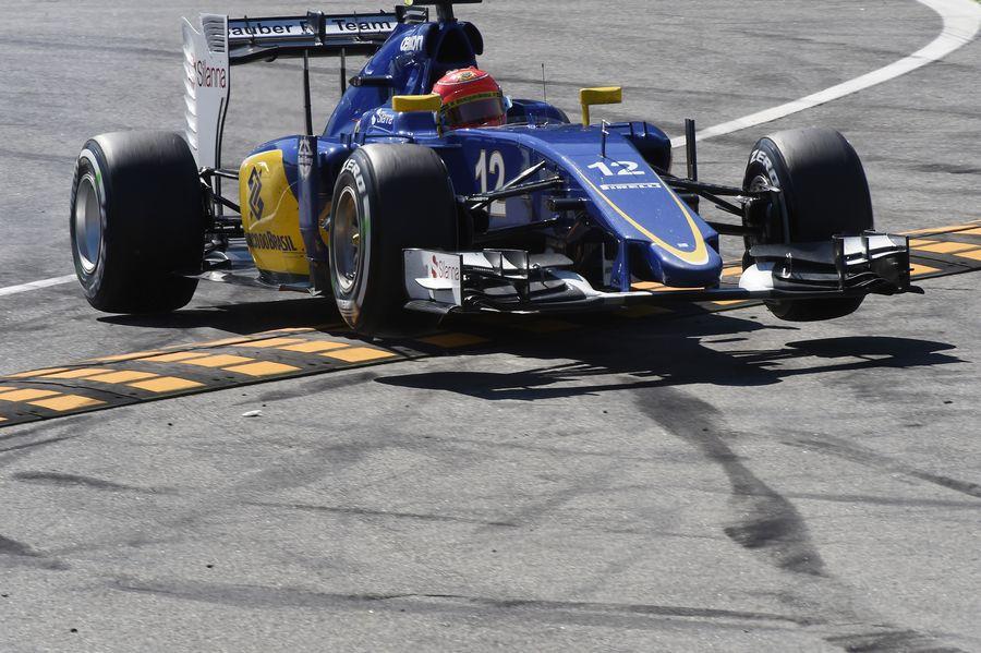 Felipe Nasr gets airborne