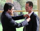 Michael Schumacher receives a Legion d'honneur