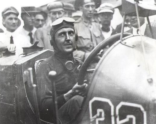 Ray Harroun after winning the first Indianapolis 500