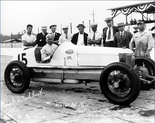 Frank Lockhart and his team at Indianapolis
