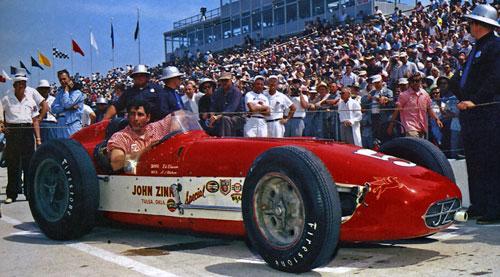 Ed Elisian ahead of the 1958 Indianapolis 500