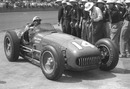Bill Vukovich pulls into Victory Lane after his 1953 win