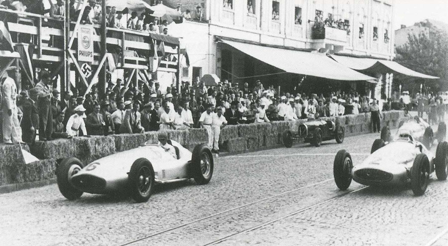 The starting line for the 1939 Belgrade Grand Prix