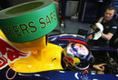 Sebastian Vettel's Red Bull fitted with KERS