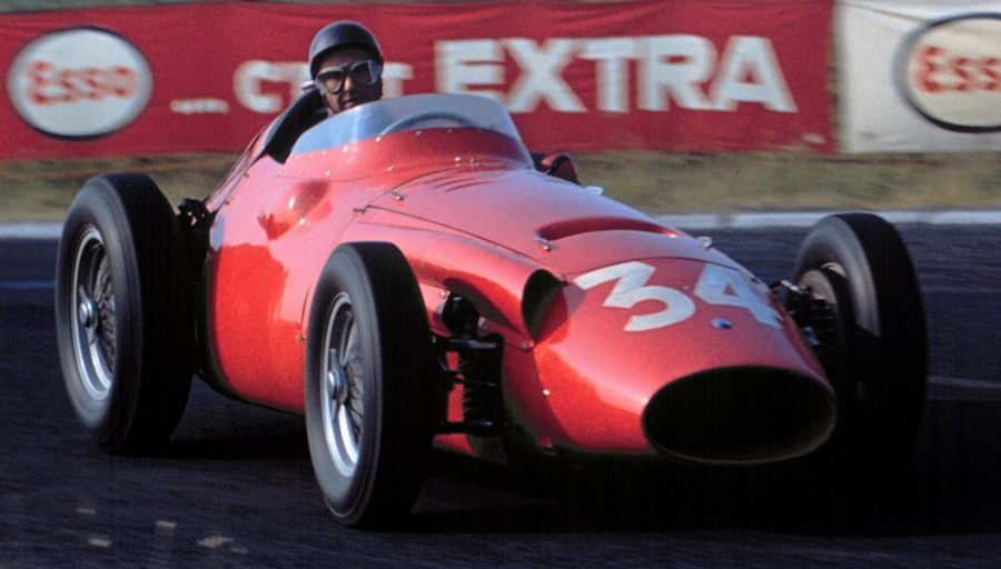 Juan Manuel Fangio in action during his final grand prix