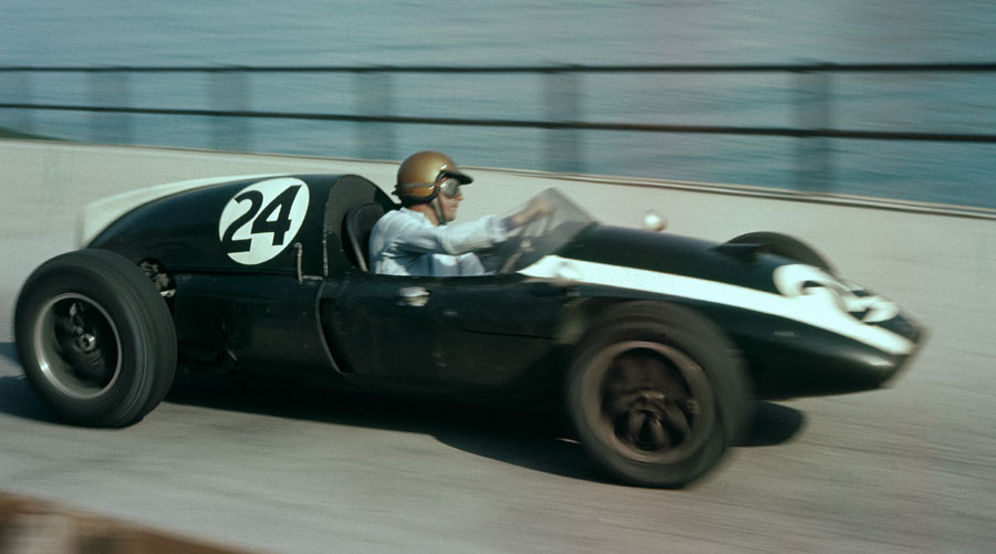 Jack Brabham on his way to winning the Monaco Grand Prix