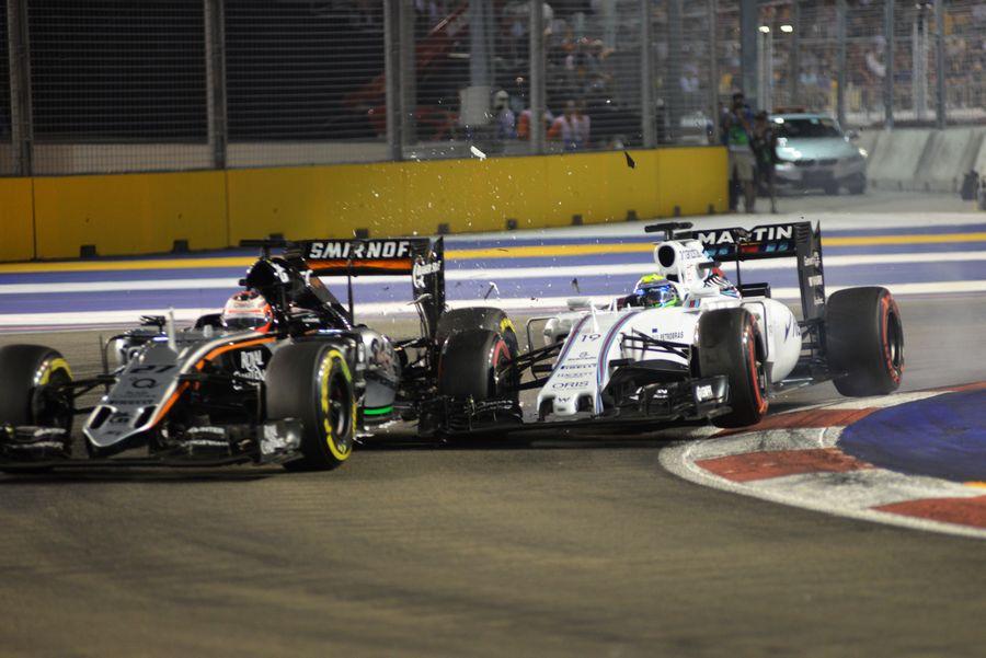 ... とマッサの接触 | Formula 1 画像 | ESPN F1