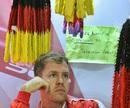 Sebastian Vettel waits for improving the condition in the garage