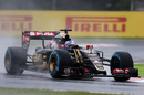 Jolyon Palmer on track in the Lotus