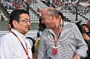 Takahiro Hachigo and Ron Dennis on the grid