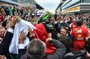 Froce India celebrates Sergio Perez for his third finish