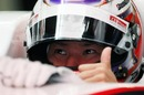 Kamui Kobayashi in high spirits during qualifying