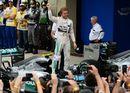 Nico Rosberg celebrates his win in parc ferme
