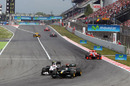 Kamui Kobayashi challenges Jarno Trulli