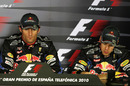 Mark Webber and Sebastian Vettel in the press conference